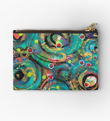 Exuberant Evolution - an Anahata Codes-infused intuitive painting Studio Pouch