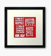 High (Sir Sly) Framed Print