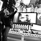 Tourists Times Square by Elodie