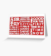 High (Sir Sly) 2 Greeting Card