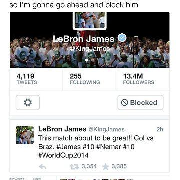 Joel Embiid - Blocking LeBron James by TeeTweets