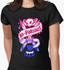 bi furious bisexual 2017 rainbow cute Women's Fitted T-Shirt