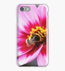 Pink flower and Bee iPhone Case/Skin