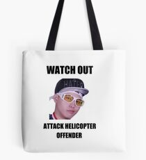 STEF IS AN ATTACK HELICOPTER OFFENDER Tote Bag
