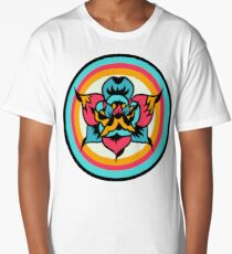 CMYK Traditional Tattoo Rose Long T-Shirt