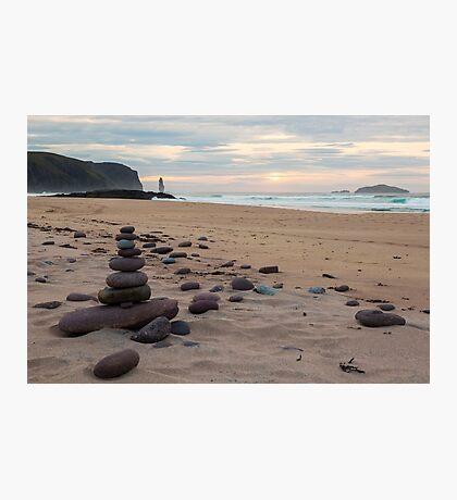 Sandwood Bay Stone Stacks Photographic Print