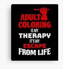 Coloring Books For Adults Funny Adult Coloring Gift Canvas Print