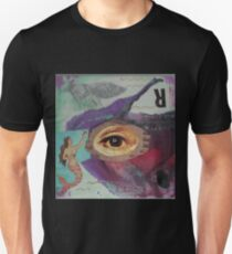 "Original Mixed Media Collage - ""Fisheye"" Unisex T-Shirt"