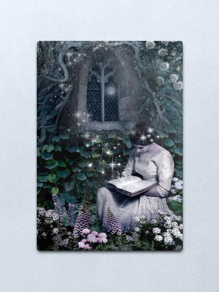 Alternate view of Lost in the Garden Metal Print