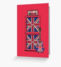 Union Jack Guitar Amp - Red Double Greeting Card