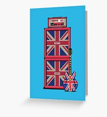 Union Jack Guitar Amp - Blue Double Greeting Card