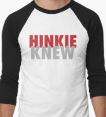 Hinkie Knew Men's Baseball ¾ T-Shirt