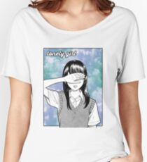 Lonely Girl Sad Aesthetic Women's Relaxed Fit T-Shirt