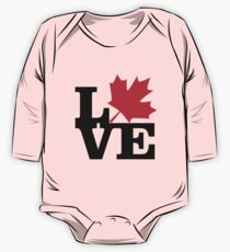 Canada - Love (Black Text) One Piece - Long Sleeve
