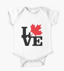 Canada - Love (Black Text) One Piece - Short Sleeve