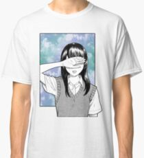 Lonely girl sad aesthetic no text Classic T-Shirt