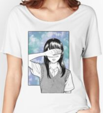 Lonely girl sad aesthetic no text Women's Relaxed Fit T-Shirt