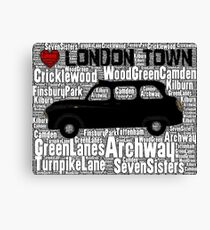 North London cab Canvas Print