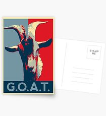 G.O.A.T. - GOAT - Greatest of all time Postcards