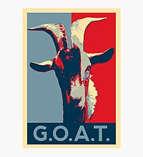 G.O.A.T. - GOAT - Greatest of all time Photographic Print