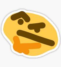 Thonking/Thinking Emoji Sticker