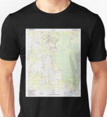 USGS TOPO Map Florida FL Wewahitchka 349088 1990 24000 Unisex T-Shirt
