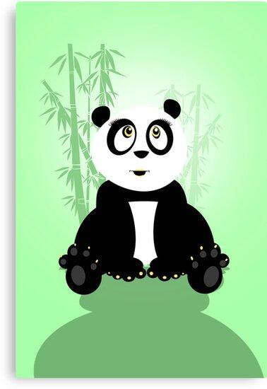 Panda Girl - Green by Adam Santana