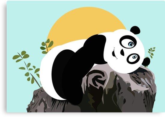 Panda Relaxing by Adam Santana