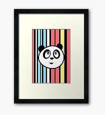 Panda Retro Framed Print
