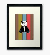 Panda Retro 2 Framed Print