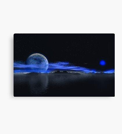 Blue Moons Canvas Print