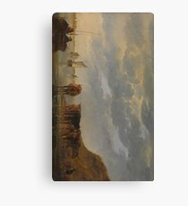 A Herdsman with Five Cows by a River 1650 - 1655 Aelbert Cuyp Canvas Print