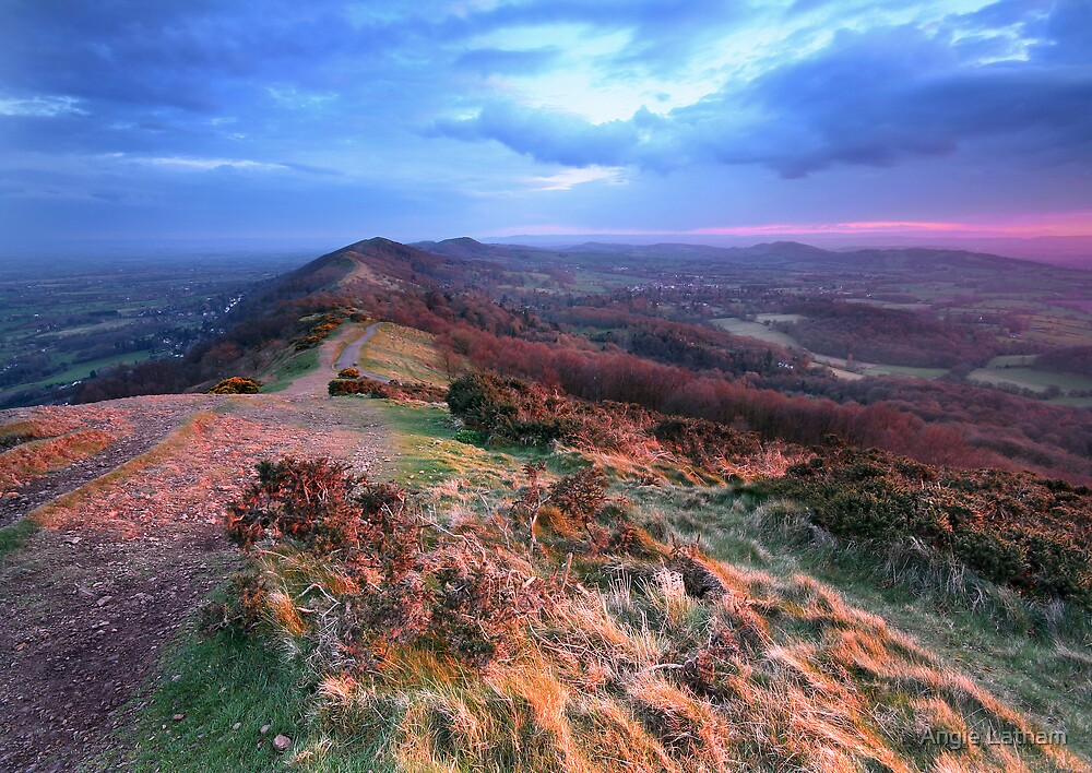 Last Light on the Malvern Hills by Angie Latham