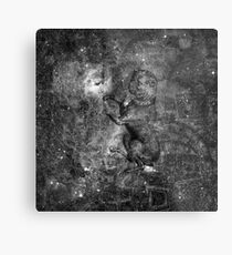 When The Stars Are Right - The Seagull Nebula In Canis Major (b&w version) Metal Print