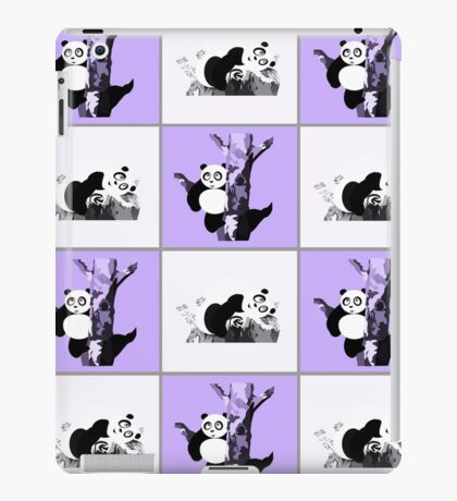 Pandas Checker - Purple iPad Case/Skin