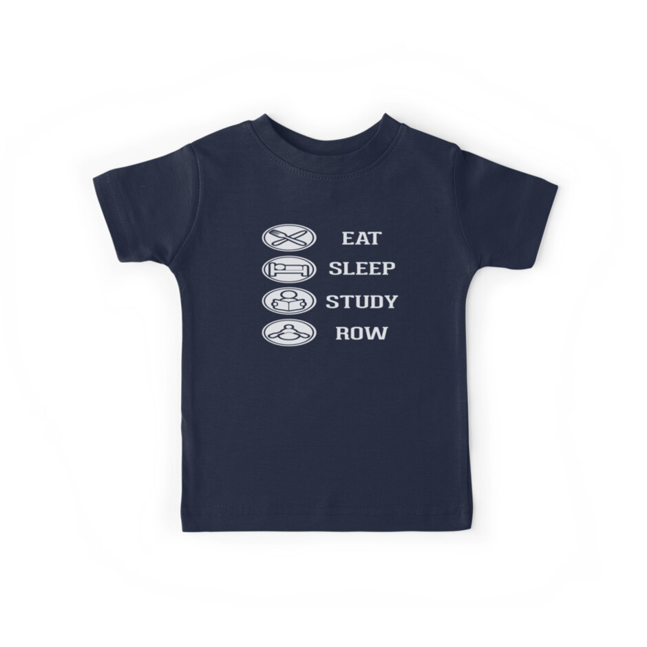 Eat Sleep Study Row by MileHighTees