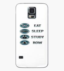 Eat Sleep Study Row Case/Skin for Samsung Galaxy