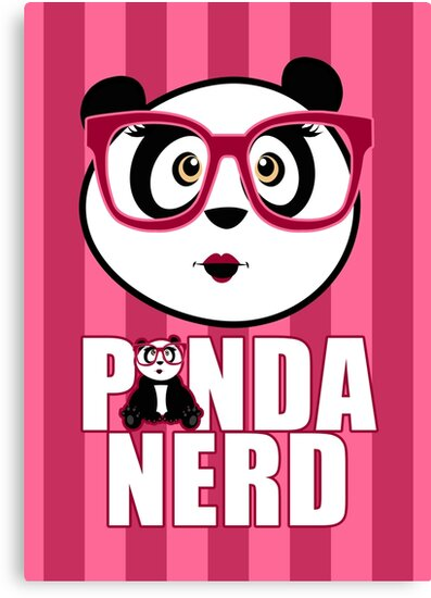 Panda Nerd Girl by Adam Santana