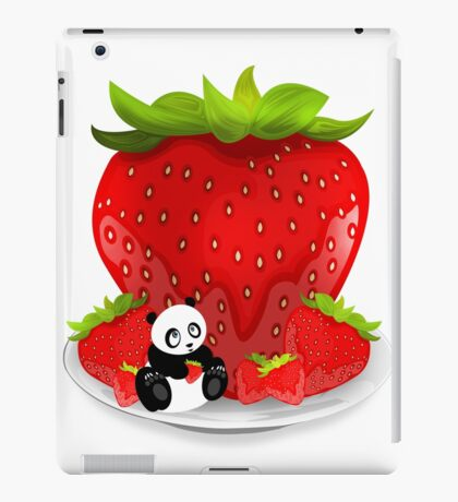 Panda & Strawberries  iPad Case/Skin