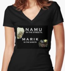 Namu in the Streets Marik in the Sheets Women's Fitted V-Neck T-Shirt