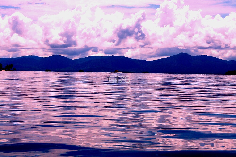Clear ocean & mountain by Gil76