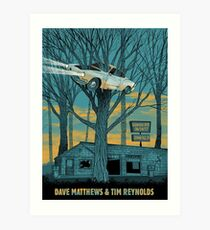 Dave Matthews and Tim Reynolds June 14th 2017 Blossom Music Center Cuyahoga Falls OH  Art Print