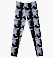 Dabbing Hippo Shirt Leggings