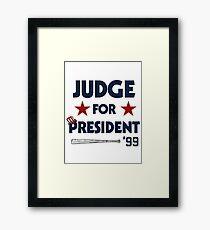 Aaron Judge for President  Framed Print