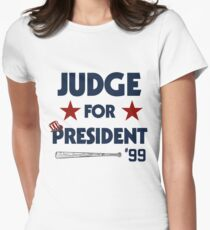 Aaron Judge for President  Womens Fitted T-Shirt