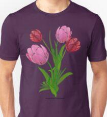 2 Pink Tulips (9016 Views) Unisex T-Shirt