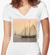 Morning of Glory 2 - Sail Boston 2017 Women's Fitted V-Neck T-Shirt