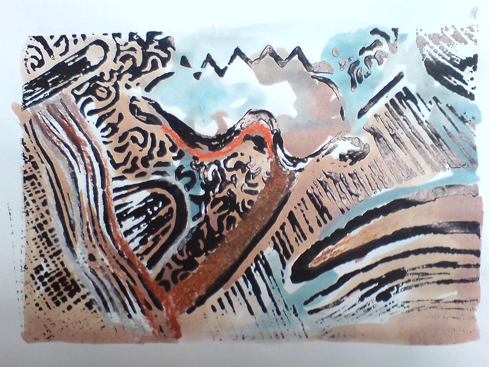 Lino Print 03 by Dani Louise Sharlot