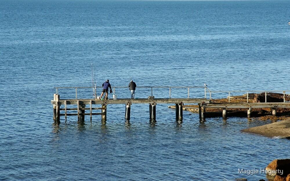 Gone Fishing, Beaumaris Australia. by Maggie Hegarty