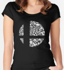 Super Smash Bros. Logo Women's Fitted Scoop T-Shirt